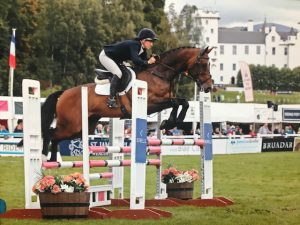 Katie Magee on Claude at Blair with a double clear record in the CCI1 to be 11th out of 106 starters.