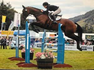 Katie Magee on Dolly (Dollarney) at Blair with a double clear record in the CCI in her ERM debut.