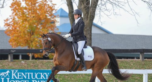Anna Marek and Haiku at US Dressage Finals