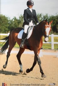 Rachel Weller Dean Evans with her WOW Saddle