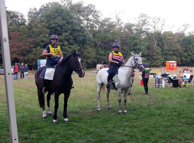 Thea Van Sante and friend at Endurance Montferland